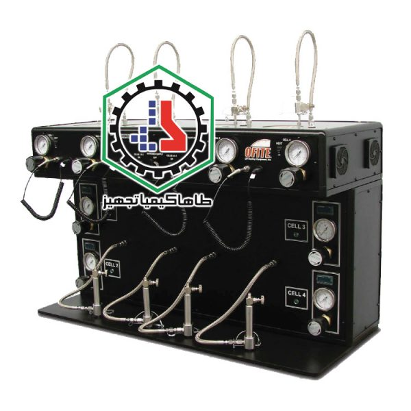 ۰۴-۰۱-۰۳ Filter Press, HTHP, 175 mL, 4 Unit, with Regulators and Temperature Controllers Ofite